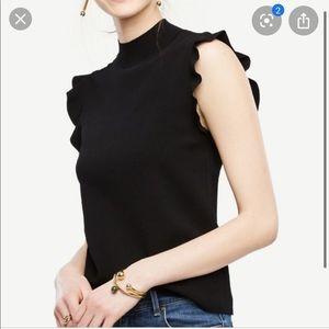 Ann Taylor mock neck sweater xxs petite